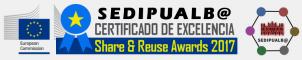 Certificado de excelencia otorgado por la Comisión Europea en los premios Share & Reuse Awards 2017 (puesto 3º categoría local)